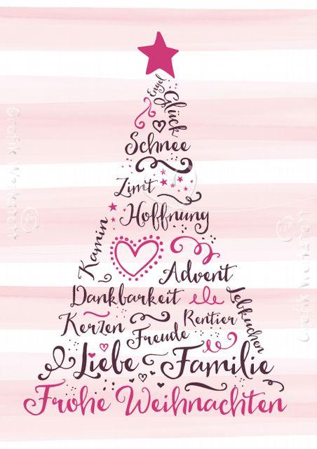Frohe Weihnachten! - Postkarte - Grafik Werkstatt Bielefeld