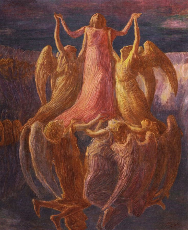 Gaetano Previati - The Assumption, c. 1901-1903