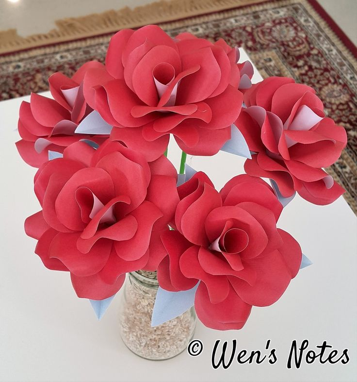 DIY Paper Rose with templates | Wen's Notes