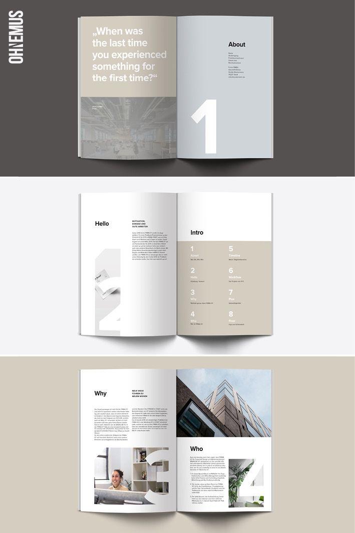 Kostenlose Praktikumsbericht Vorlage Editorial Design Portfolio Design Corporate Design