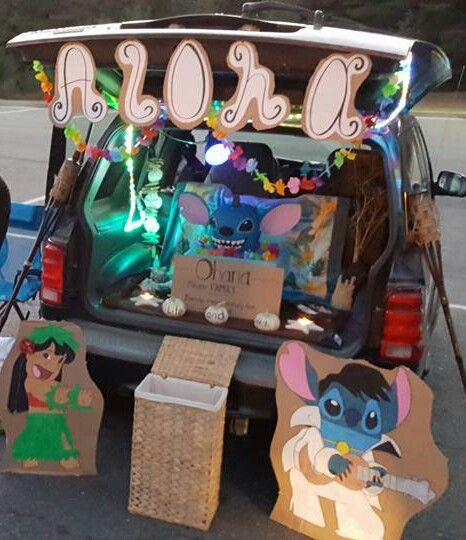 lilo stitch trunk or treat arts and crafts pinterest