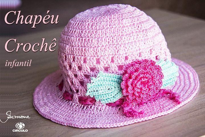 Chapéu de crochê verão para bebê  https://youtu.be/ulsh1zSut0A #crochet #professorasimone #semprecirculo #clea #cleinha #anne