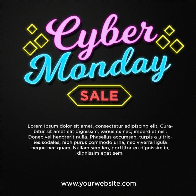 Cyber Monday Banner Sale In Neon Style Text Effect Cyber Monday Banner Sale In Neon Style Text Effect Premium Psd P In 2020 Cyber Monday Banner Cyber Monday Cyber