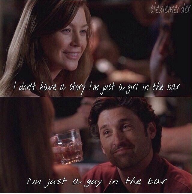 Eu não tenho historia ... Eu sou apenas uma garota no bar .... Eu sou apenas um cara no bar