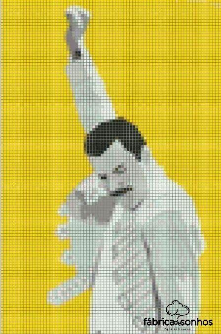 #Freddie #Queeen #CrossStitch