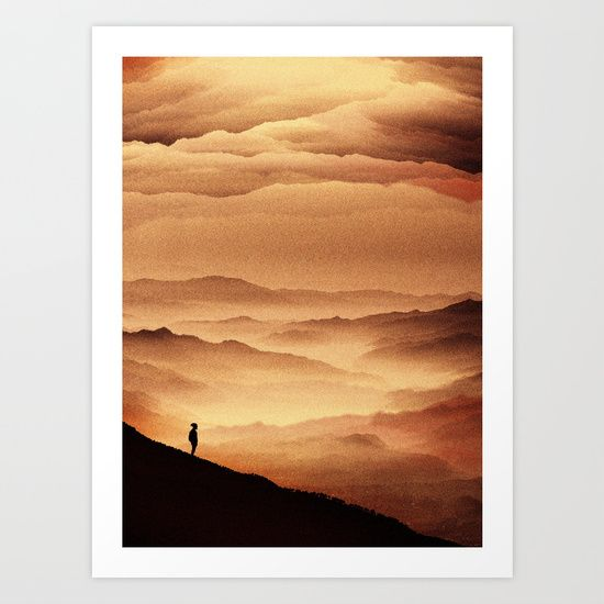 Red Noise Isolation Series by Stoian Hitrov - Sto https://society6.com/product/red-noise-isolation-series_print?curator=stoianhitrov @society6 #art #print #graphic #illustration #red #mountains #yellow #abstractart