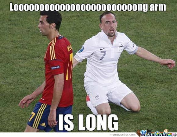 Funny soccer meme - perfect timing