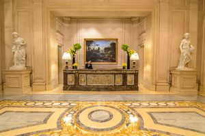Beautiful Granite/Marble Lobby- George V Hotel  www.theroadlestraveled.com