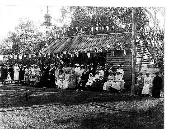 Warracknabeal Croquet Club around the 1920's.