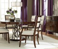 Motif Dining SKU: AW1014000  Round Pedestal and Rectangular Leg table options available.  Additional pieces available including curio & credenza (shown).The Upper Room Home Furnishings, Ottawa's Premier Home Furniture Store.