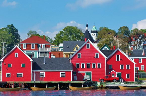 Another view from the harbor of Lunenburg, Nova Scotia...and some great seafood!