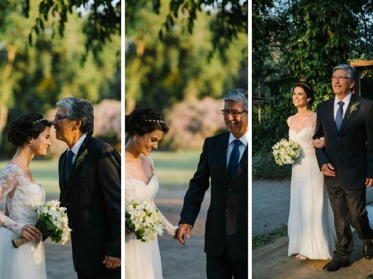 Entrada da noiva com pai
