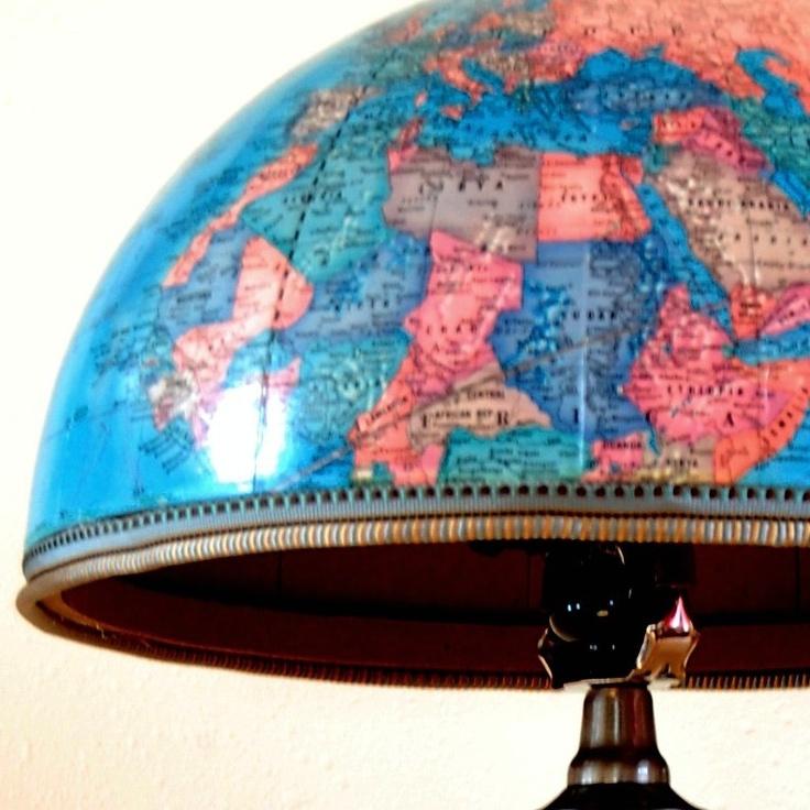 Upcycled Globe Lamp. #DIY