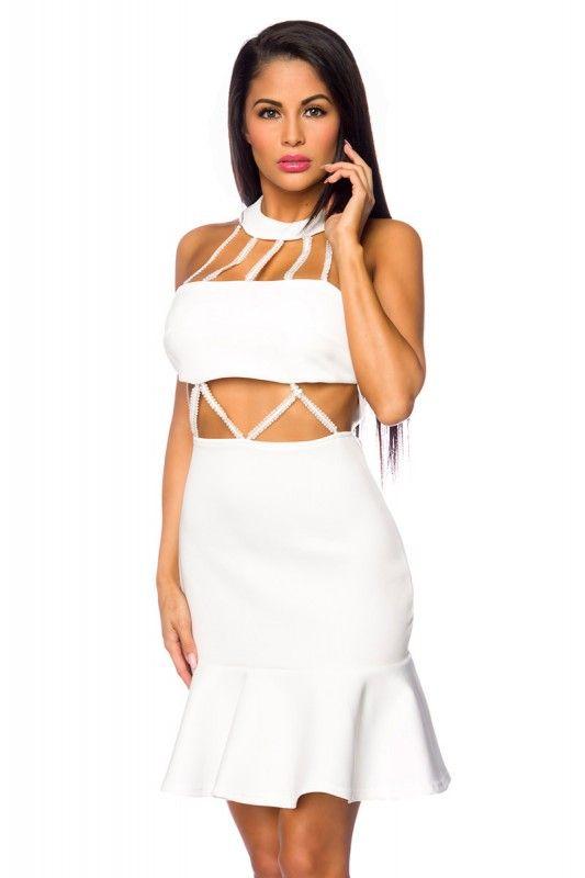 #Cocktailkleid mit Neckholder-Kragen - My-Kleidung Onlineshop