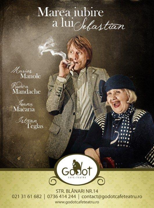 """Actorii Rodica Mandache si Marius Manole revin in spectacolul """"Marea iubire a lui Sebastian"""""""