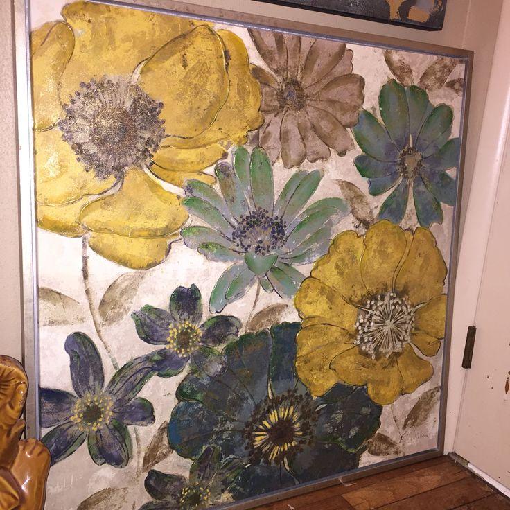 Pier Gilded Flowers Wall Art