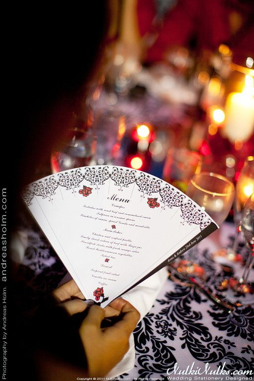Spanish Fans Wedding Theme   2012 Wedding Stationery by NulkiNulks.com
