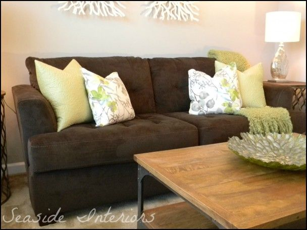 Throw Pillows For Dark Brown Couch