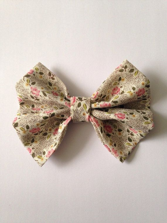 Vintage Floral HeadBow with Wine Elastic by AvasAccessories1