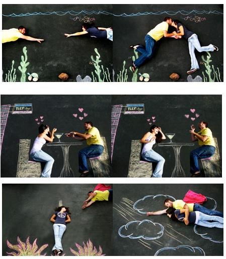 Engagement Photos: Make Your Own Backdrop! Except be like, Imma steal your last name and I'll dress up as a thief..