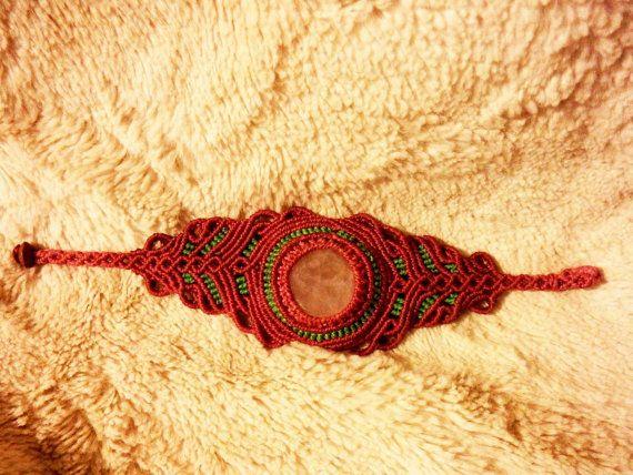 Bracelet macrame new hippie vintage style. por LaFabulaDeAracne