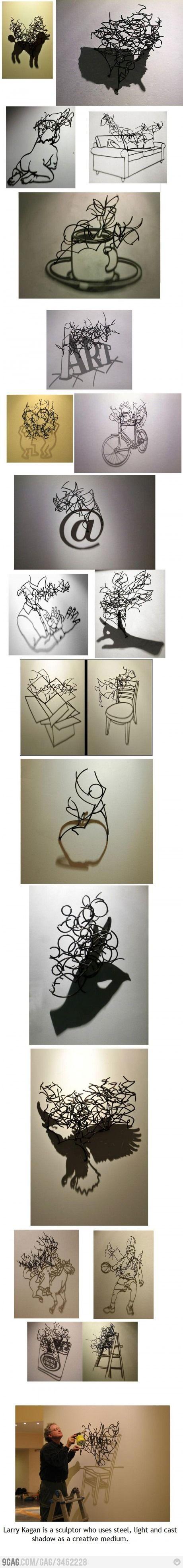 Steel wire art.