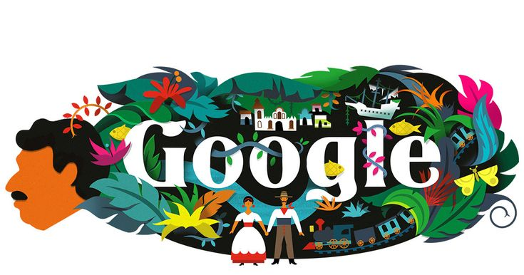 Google's homepage is extra colorful today in honor of Colombian writer Gabriel García Márquez, who died in 2014