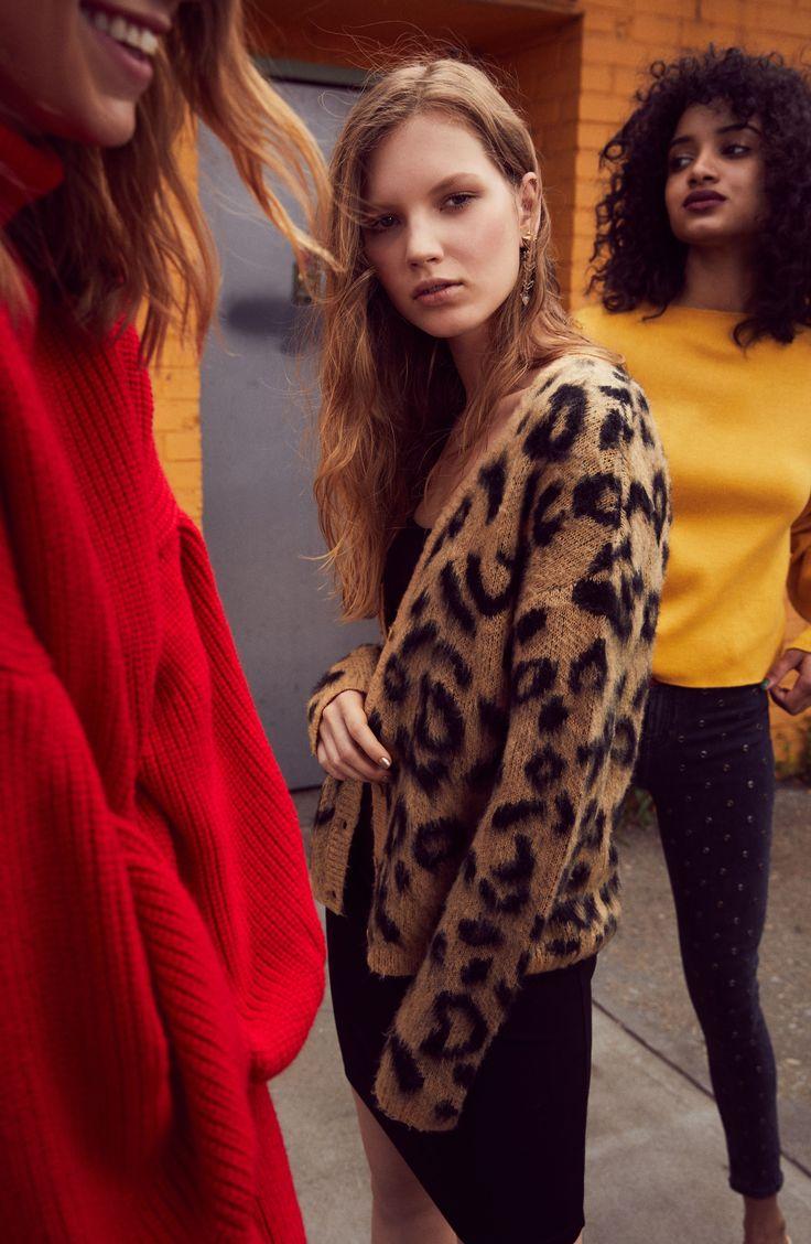 Leopard Print Jacquard Cardigan