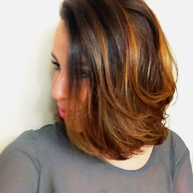 Medium length ombre. More of a natural look.