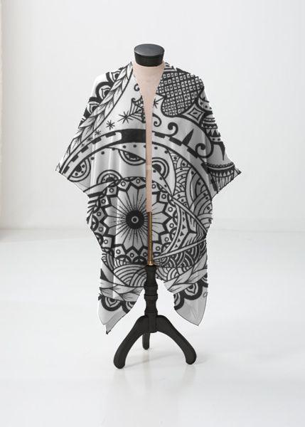 Cashmere Silk Scarf - sword of spirit by VIDA VIDA oWk8dBX