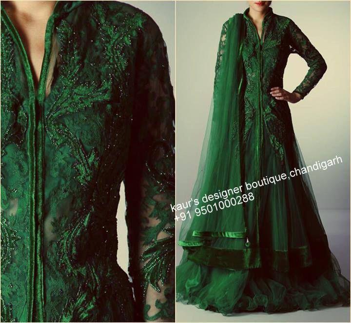 Emerald Green #lehenga #wow