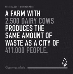Some Vegan Facts - Fact 001. Source // http://www.cowspiracy.com