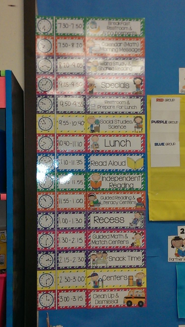 Classroom Schedule Ideas : Schedule cards cute and simple
