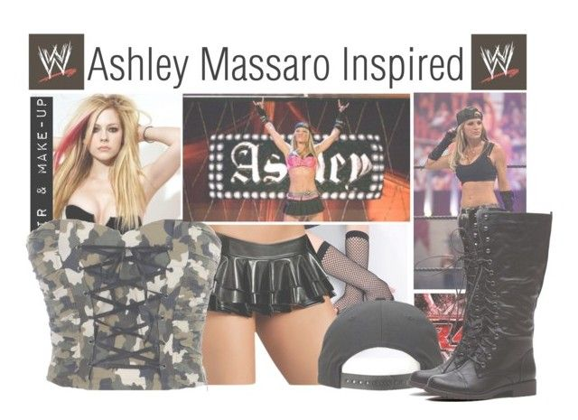 """Ashley Massaro Inspired"" by basket-case47 ❤ liked on Polyvore featuring DIVA, Monday, WWE and ashleymassaro"
