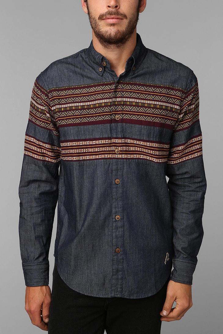 Mayan Inspired Button Up Shirt Men Short Sleeve Button Down Aztec Pattern Screen Printed Mens Shirts iH3V8N6tIO
