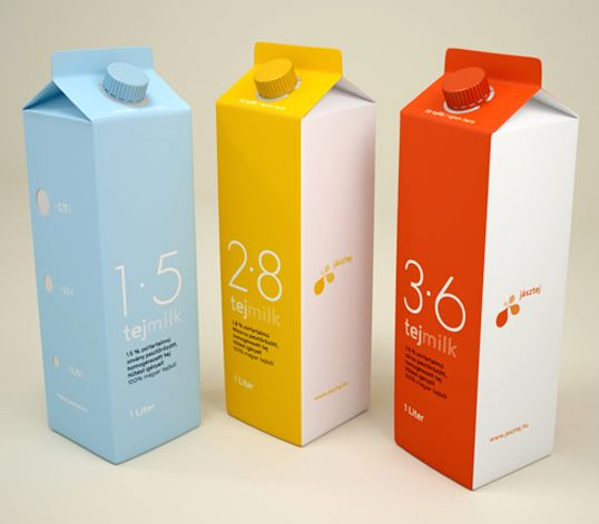 Designed by Fontos Graphic Design | Country: Hungary  Clean and simple typographic solution for this Hungarian dairy brand's visual identity