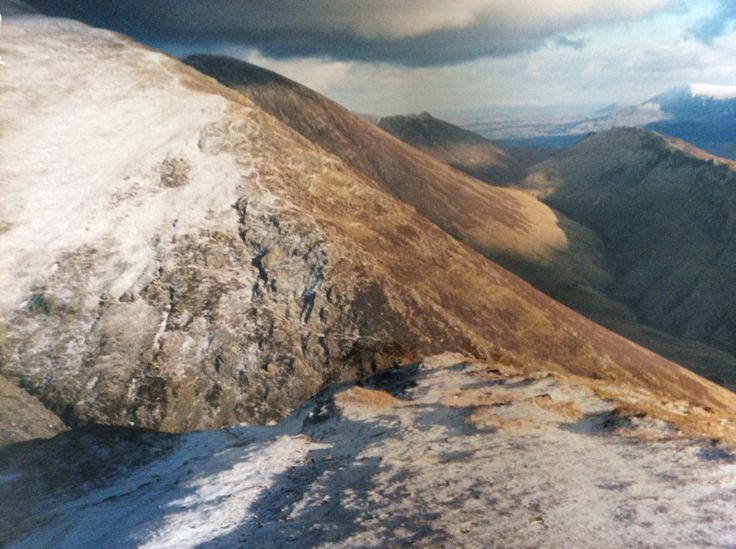 View from Whiteless Pike,looking North- East along Sail Ridge towards Causey Pike.......Cumbria .