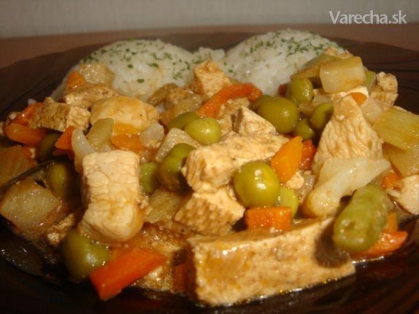 Tofu s kuracím a so zeleninou