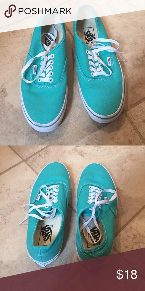 Teal vans Teal vans!! Like new!! Vans Shoes Sneakers
