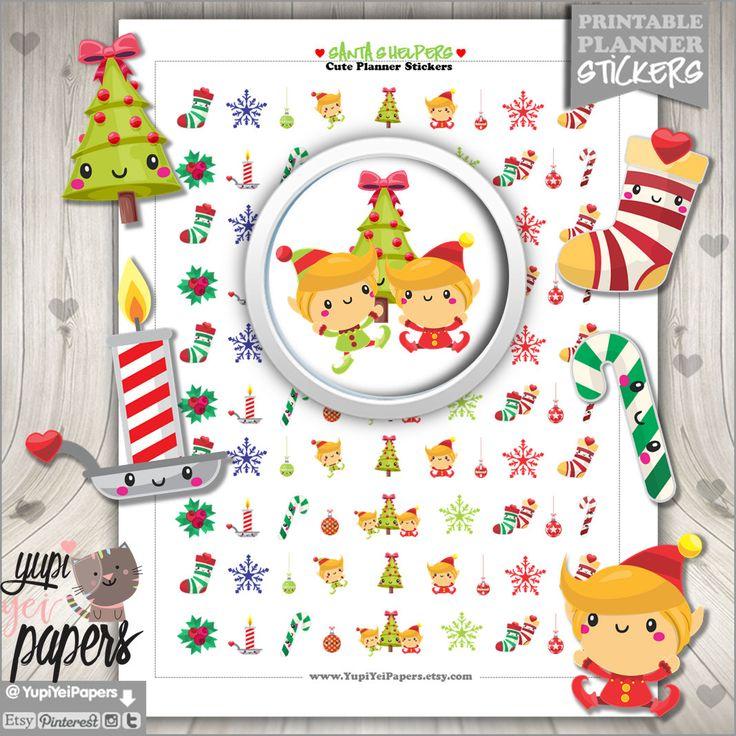 50%OFF - Santa's Helpers, Planner Stickers, Christmas Stickers, Chistmas Planner Stickers, Planner Accessories, Winter, Elves