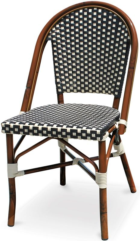 Paris Side Chair In Black And White, SC200779 BLACK WHITE By Source Contract