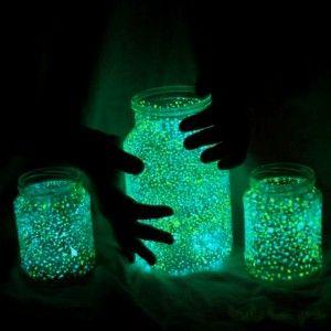 Pour l'extérieur  #DIY #deco Glowing jars