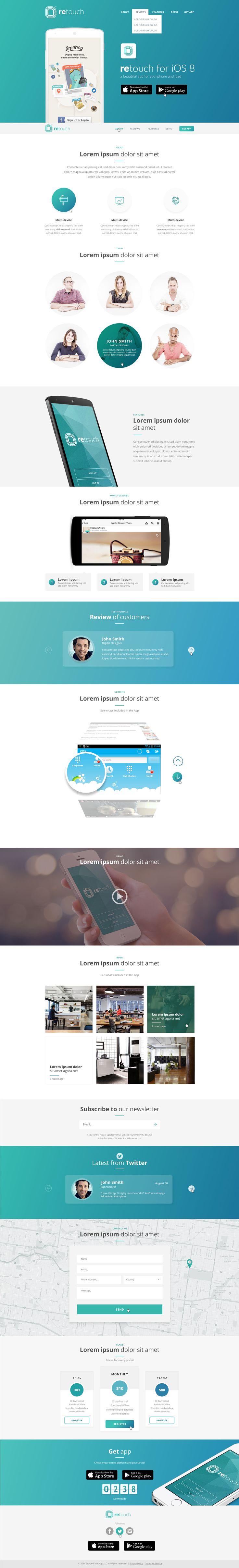 ReTouch App - App PSD Template by DarwinThemes | ThemeForest