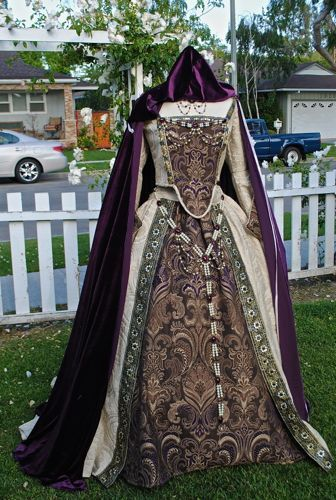 Custom Medieval Tudor Renaissance Gown Wedding or Costume...Cape, Jewelry and Gown