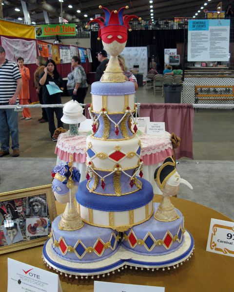 Cake Decorating Store Tulsa : You know I love the harliquin cake! Oklahoma State Sugar ...