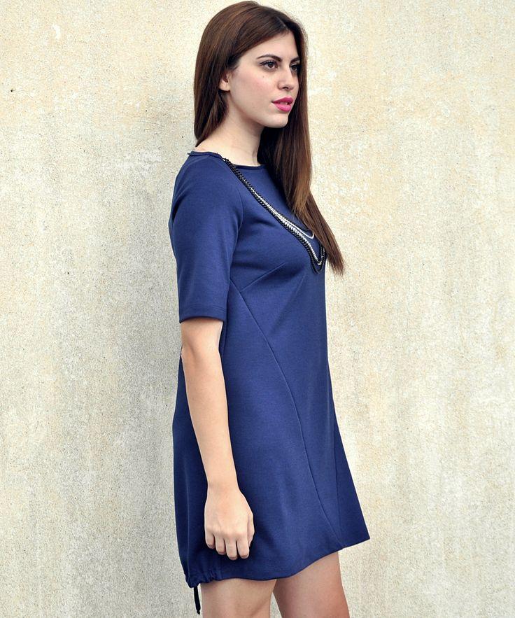 grama blue dress
