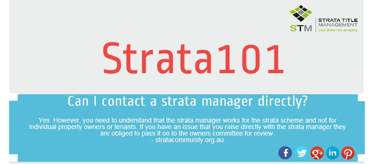 Direct contact with your strata manager, can it be done?