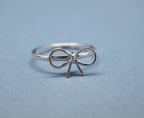 pierścionek kokardka