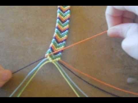 #DIY #PAP - Vídeo sobre como fazer Pulseiras de macramé - 9minutos- são 2 tipos de nós (nó 4 e nó 4 invertido) para fazer o padrão espinha (chevron)