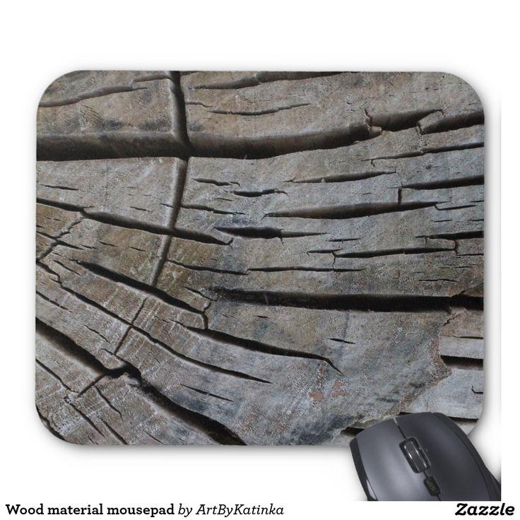 Wood material mousepad